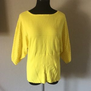 Yellow open sleeve top size L